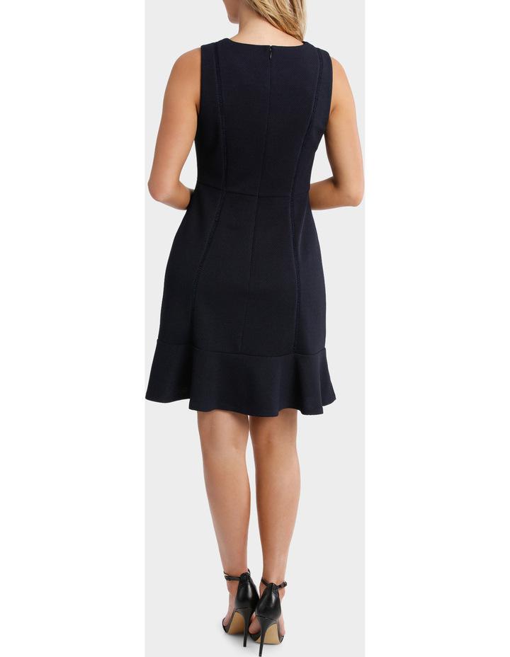 Textured Knit Flip Hem Work Dress image 3