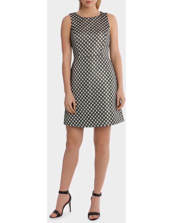 Spot Jaquard A Line Mini Dress image 1
