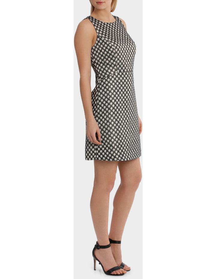 Spot Jaquard A Line Mini Dress image 2