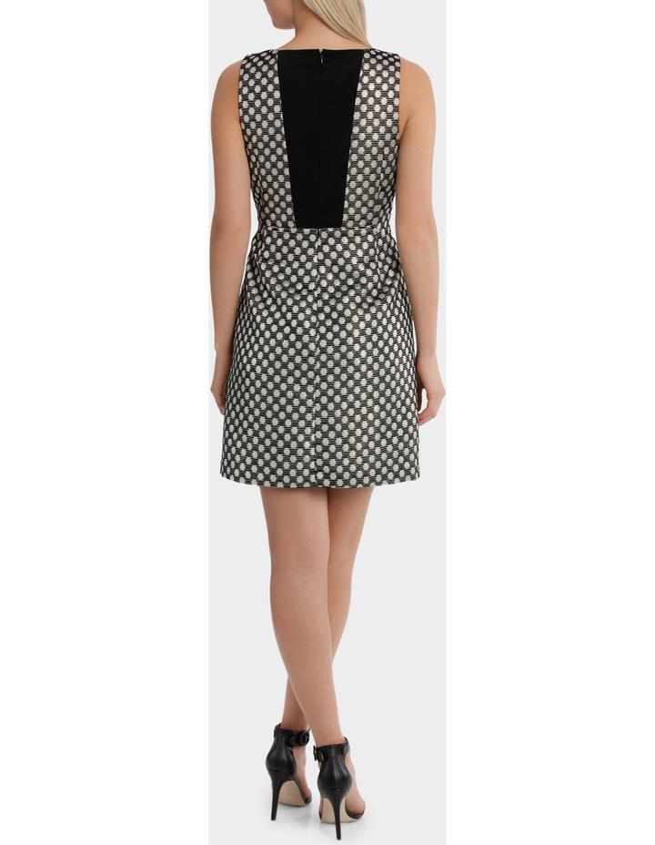 Spot Jaquard A Line Mini Dress image 3