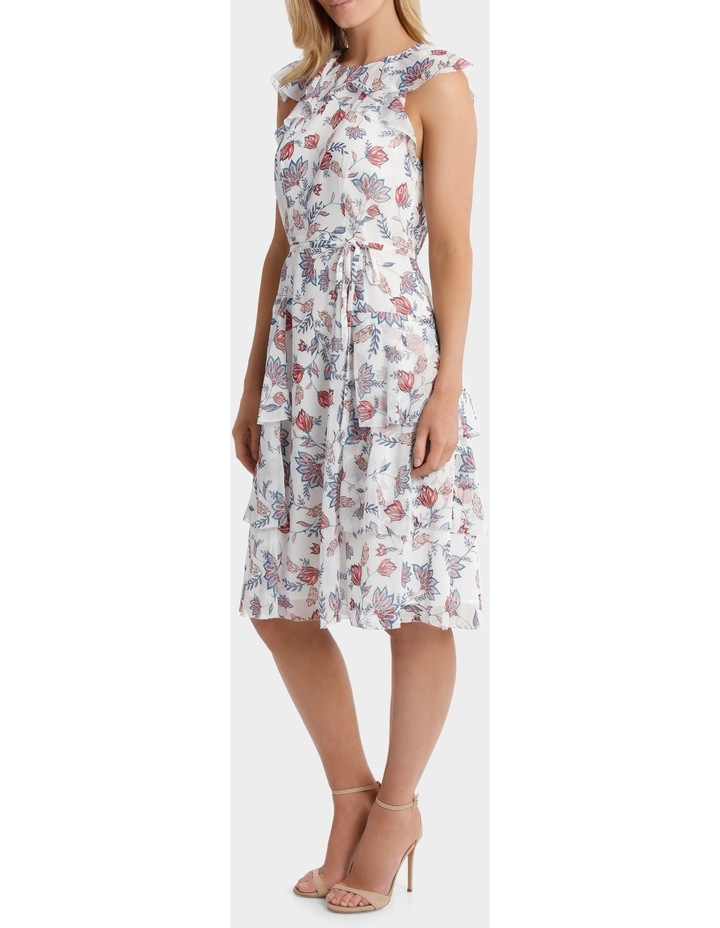 Sketched Garden Print Salsa Ruffle Tiered Dress image 2