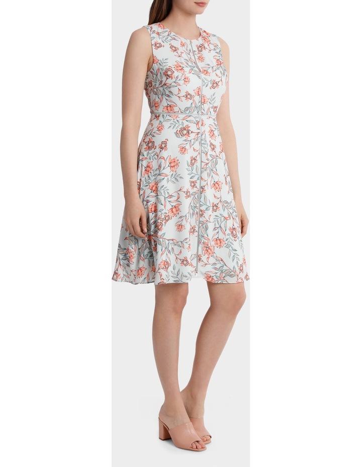 Lantern Floral Print Tea Dress image 2