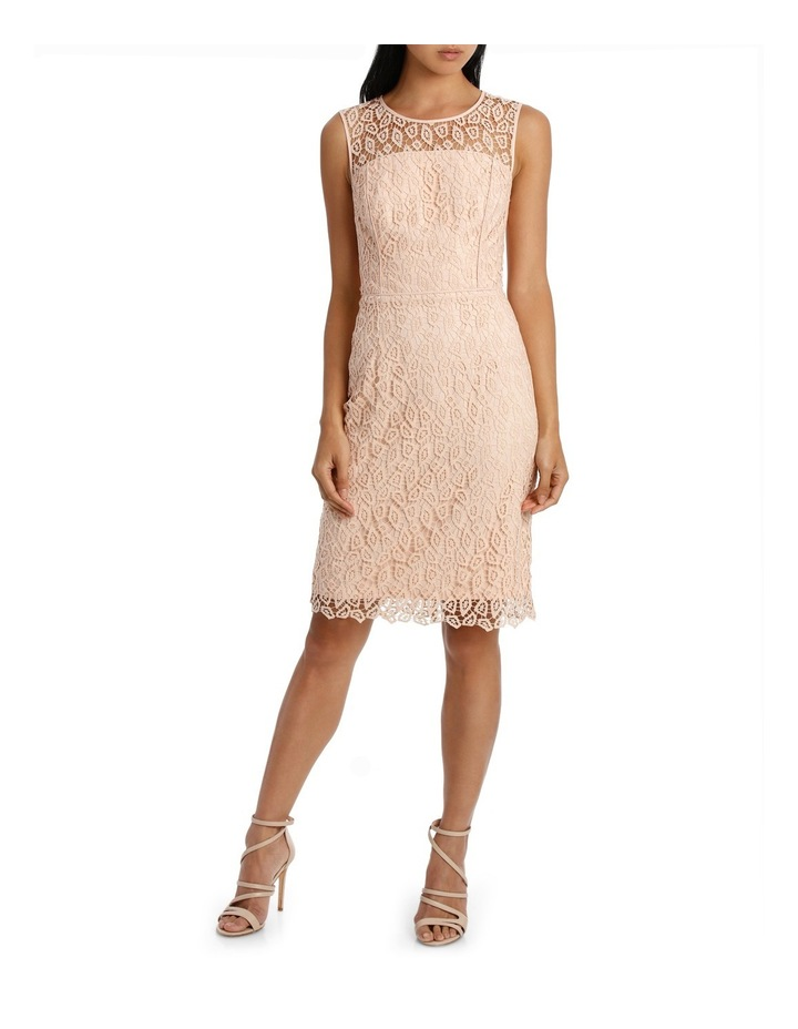 Geo Lace Fitted Dress image 1