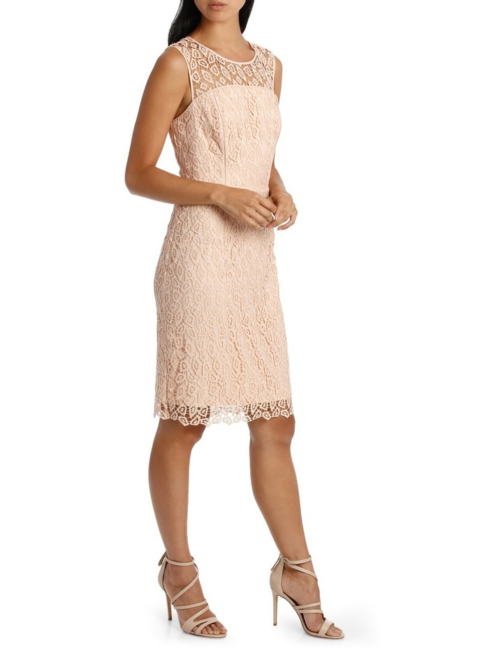 Geo Lace Fitted Dress image 2