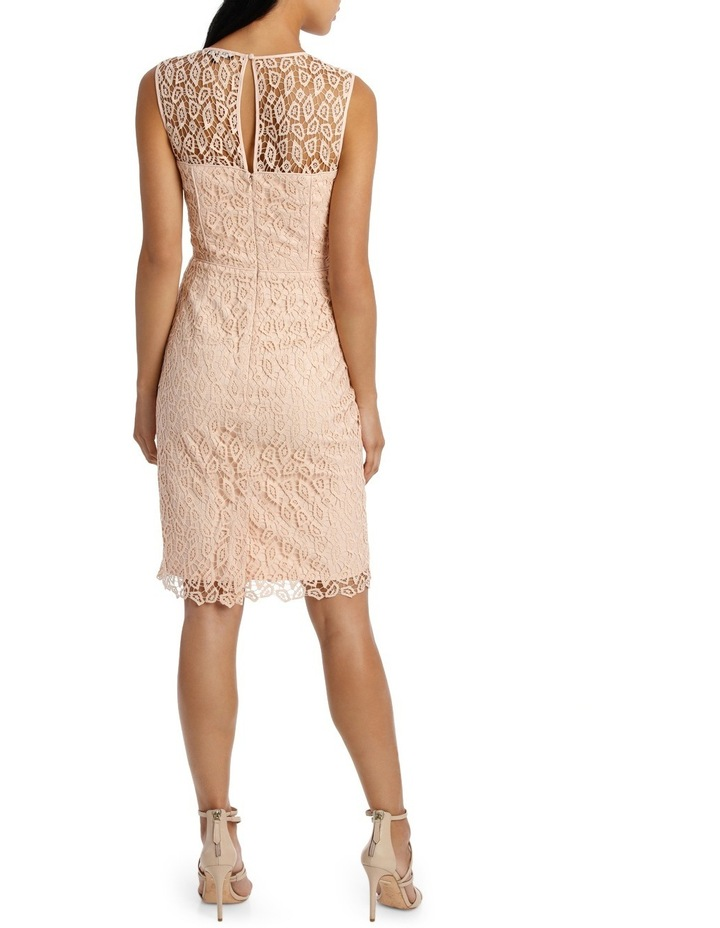 Geo Lace Fitted Dress image 3
