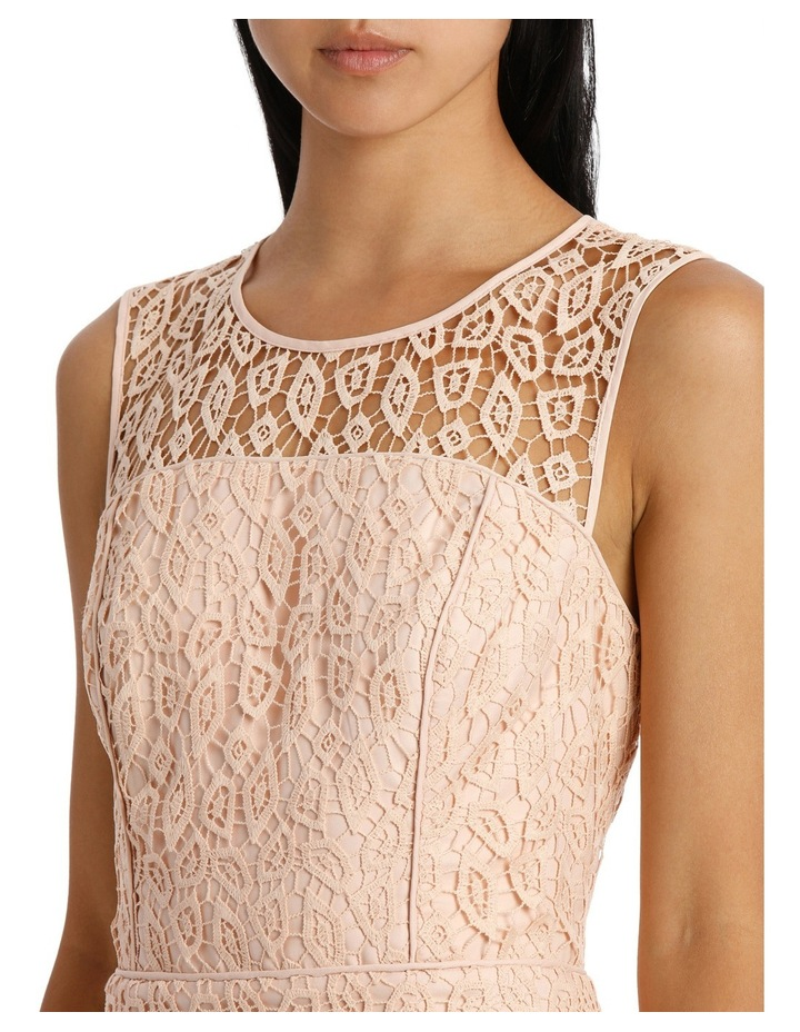 Geo Lace Fitted Dress image 4