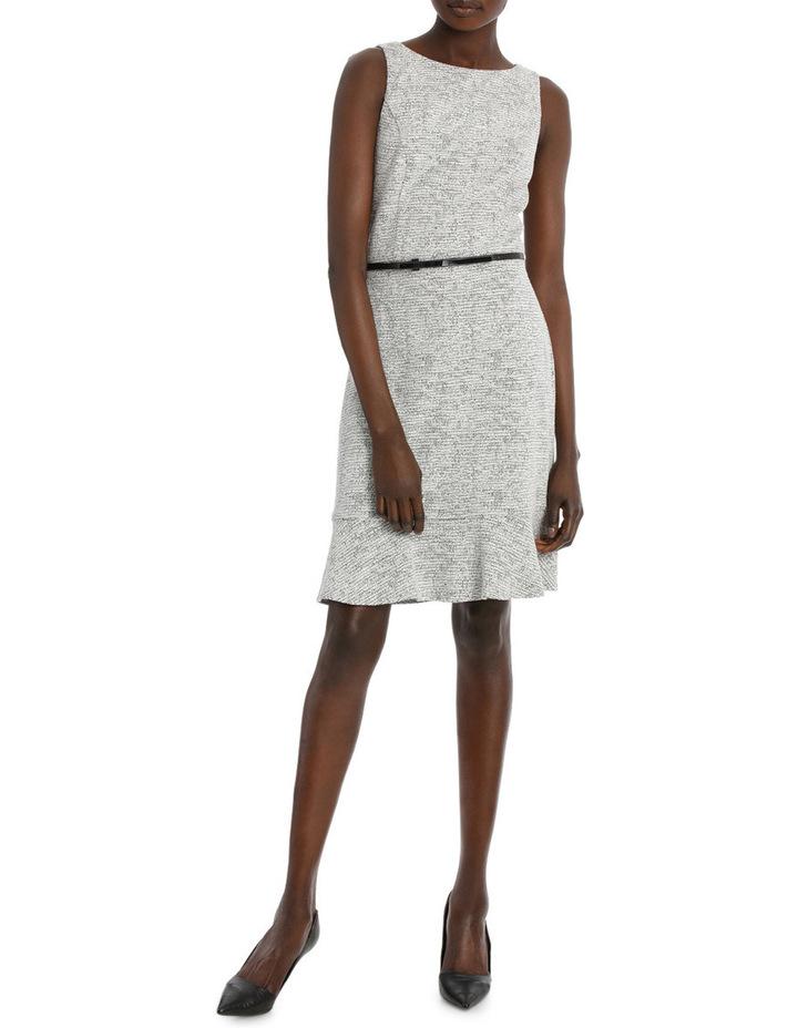 Frill Hem Jacquard Ponte Dress image 1