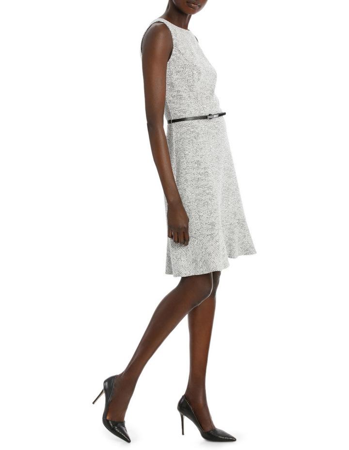 Frill Hem Jacquard Ponte Dress image 2
