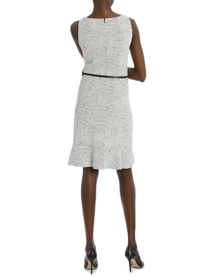 Frill Hem Jacquard Ponte Dress image 3