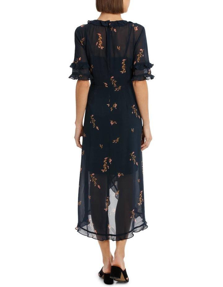 Cluster Floral Wrap Elb Sleeve Dress image 3