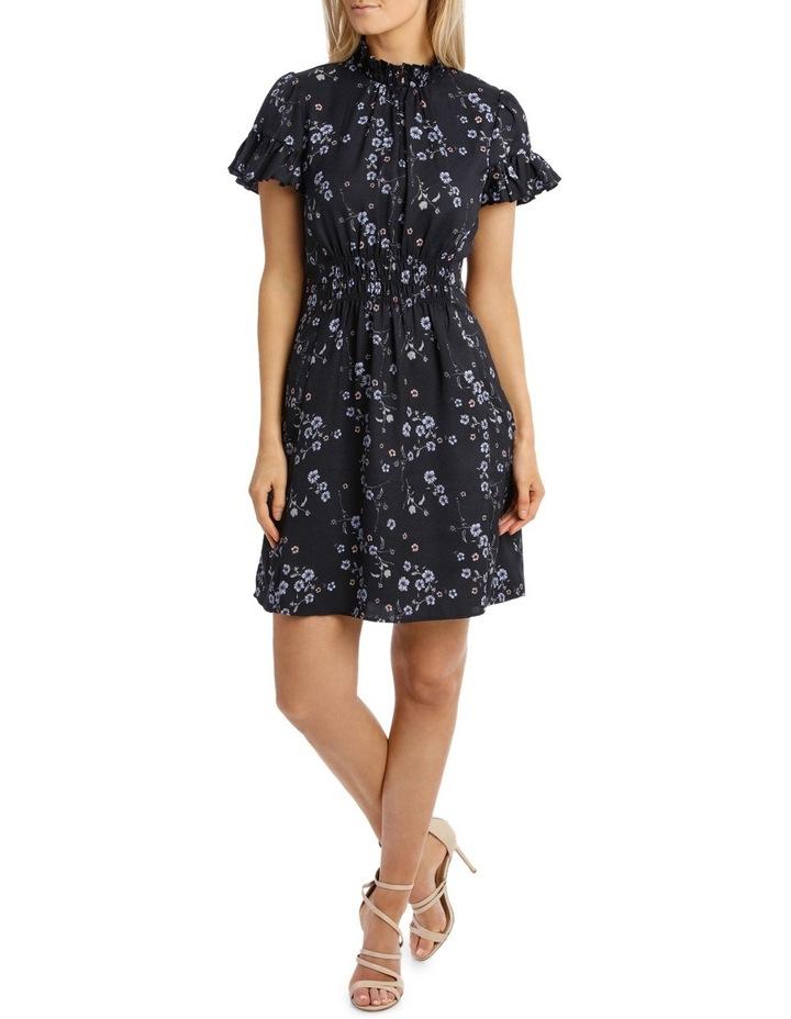 Cherry Blossom Frill Sleeve Dress image 1