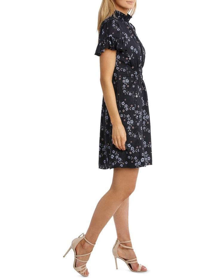 Cherry Blossom Frill Sleeve Dress image 2