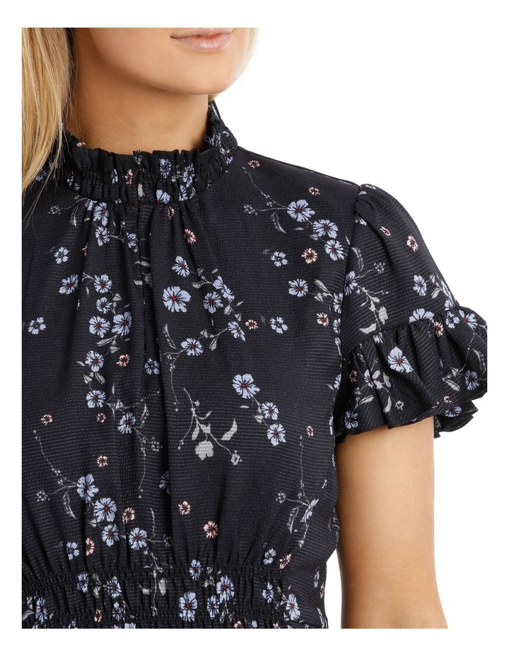 Cherry Blossom Frill Sleeve Dress image 4