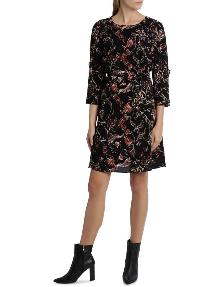 Vintage Floral Frill 3/4 Sleeve Dress image 1
