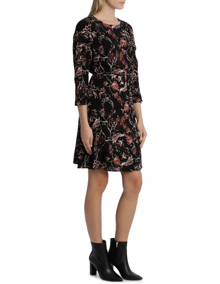 Vintage Floral Frill 3/4 Sleeve Dress image 2