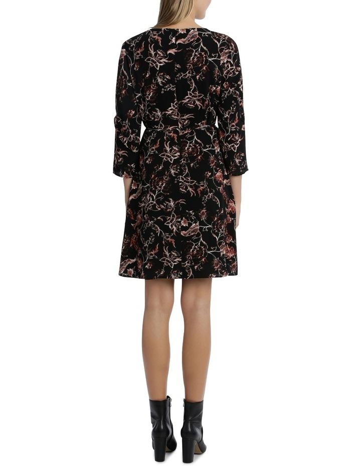 Vintage Floral Frill 3/4 Sleeve Dress image 3
