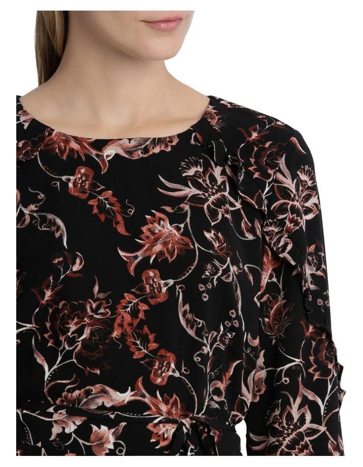 Vintage Floral Frill 3/4 Sleeve Dress image 4