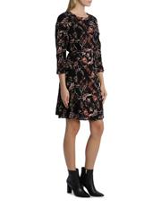 Basque - Vintage Floral Frill 3/4 Sleeve Dress