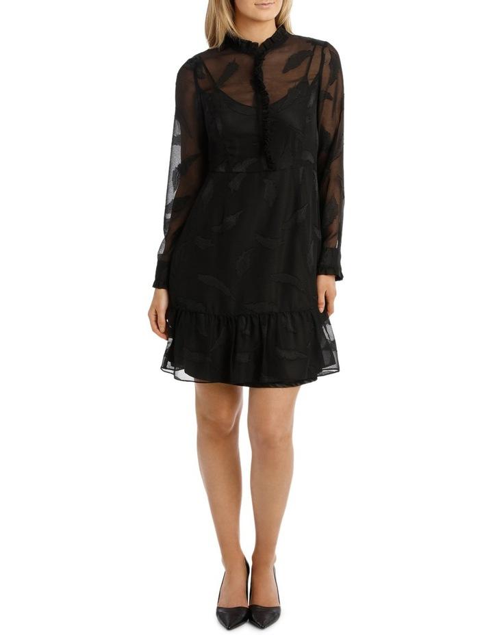 Vine Jacquard Long Sleeve Dress image 1