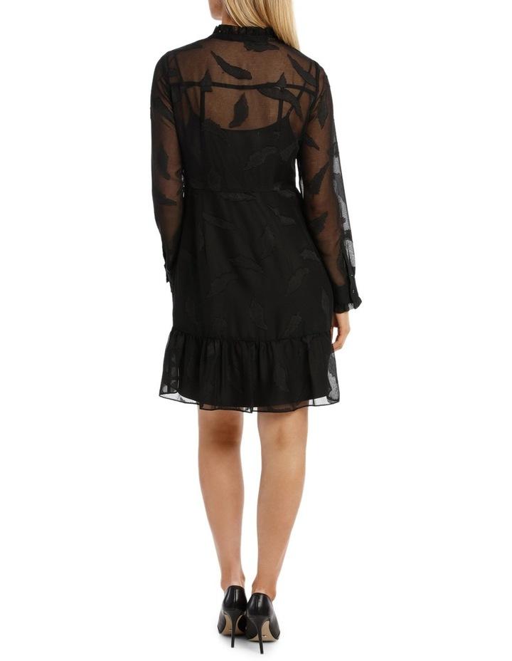 Vine Jacquard Long Sleeve Dress image 3