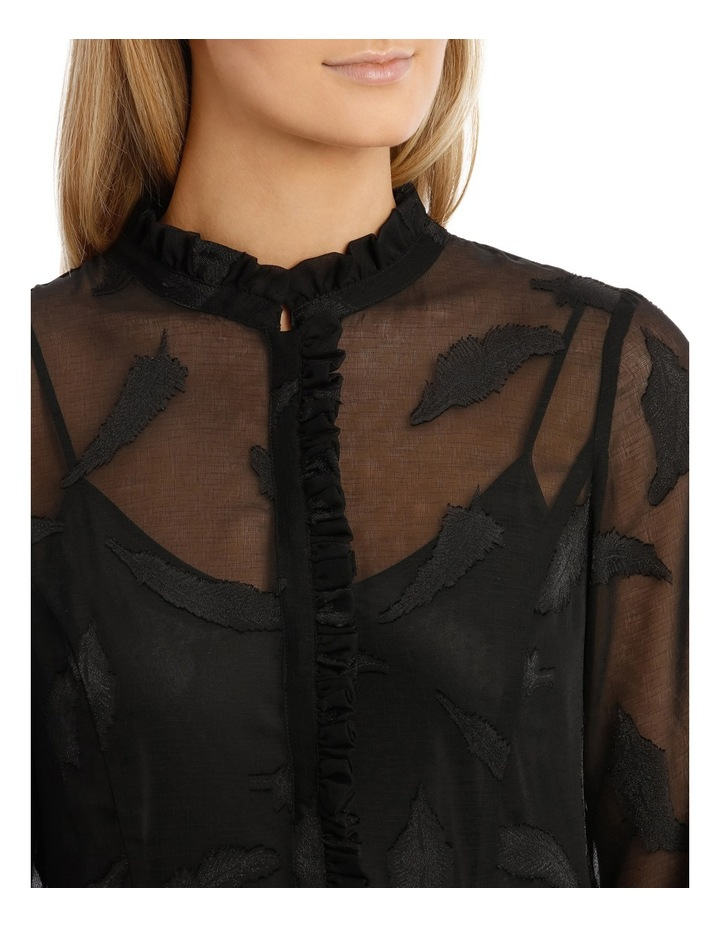 Vine Jacquard Long Sleeve Dress image 4
