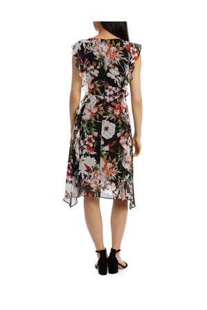 Basque - Secret Garden Frill Sleeve Dress