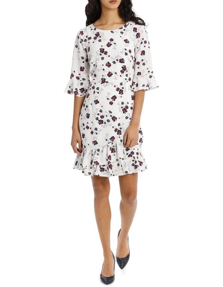 Woodland Floral Ruffle Hem Dress image 1