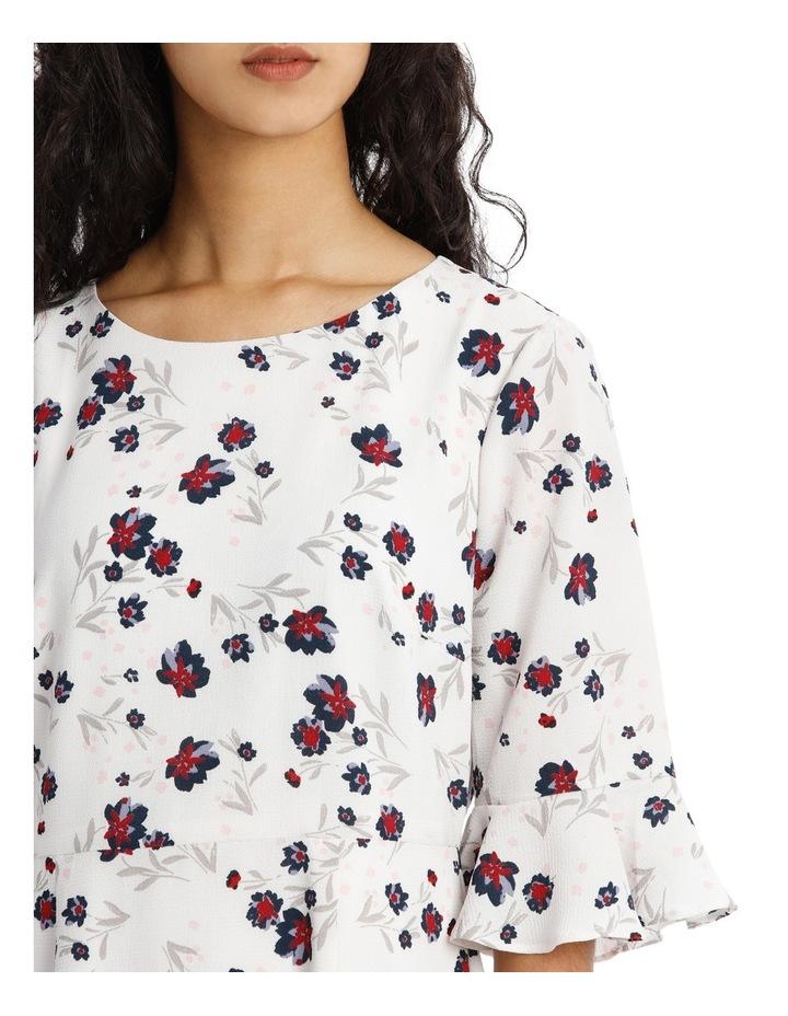 Woodland Floral Ruffle Hem Dress image 4