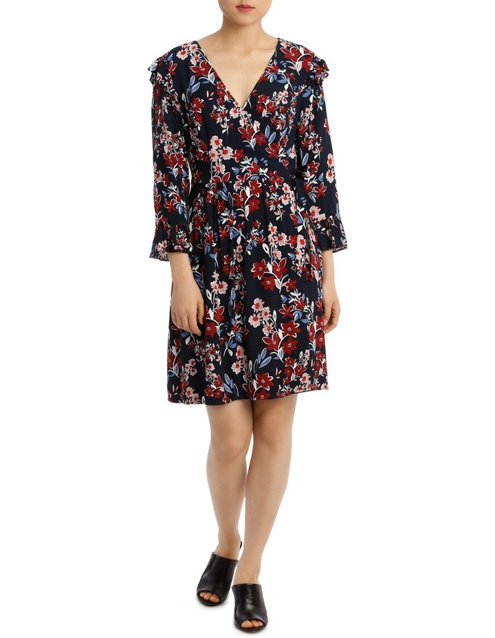 Posie Floral Frill Sleeve Wrap Dress image 1