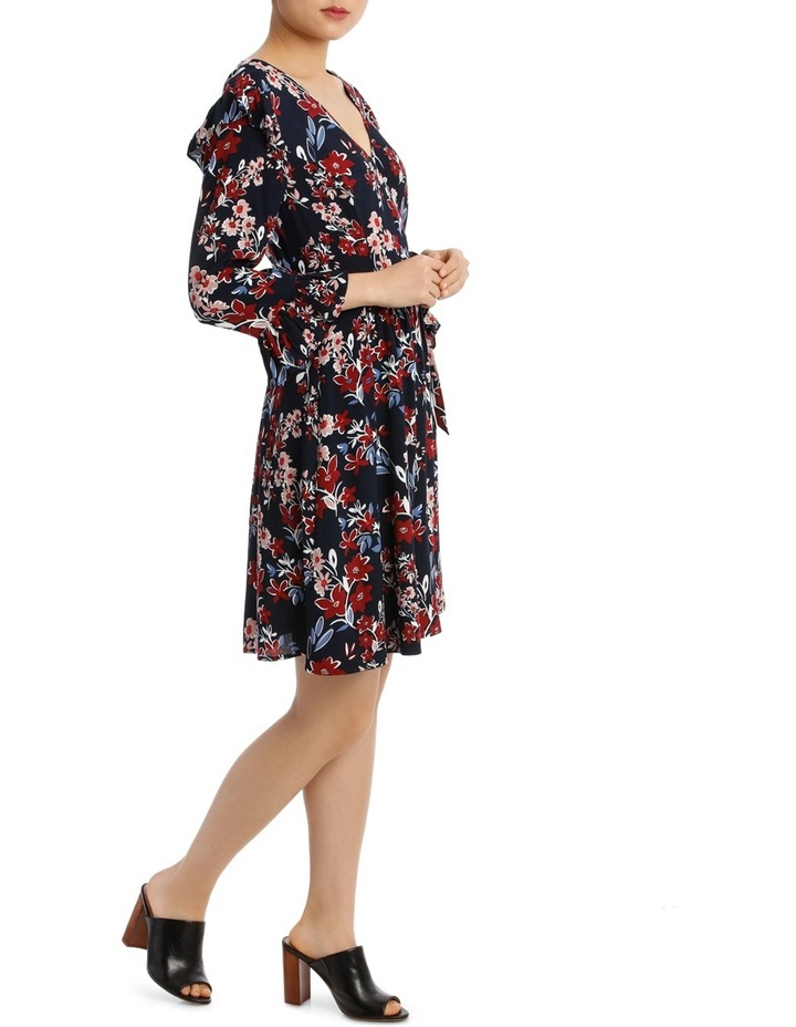 Posie Floral Frill Sleeve Wrap Dress image 2