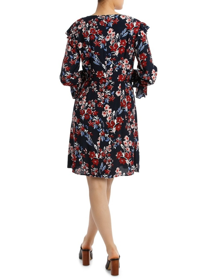 Posie Floral Frill Sleeve Wrap Dress image 3