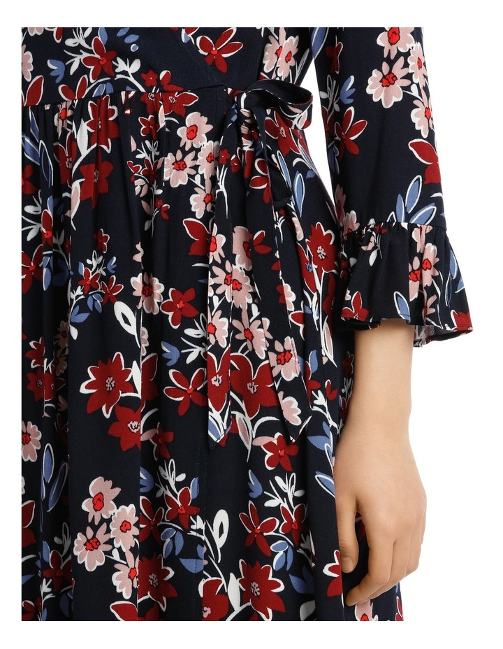 Posie Floral Frill Sleeve Wrap Dress image 4