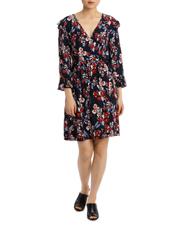 Posie Floral Frill Sleeve Wrap Dress