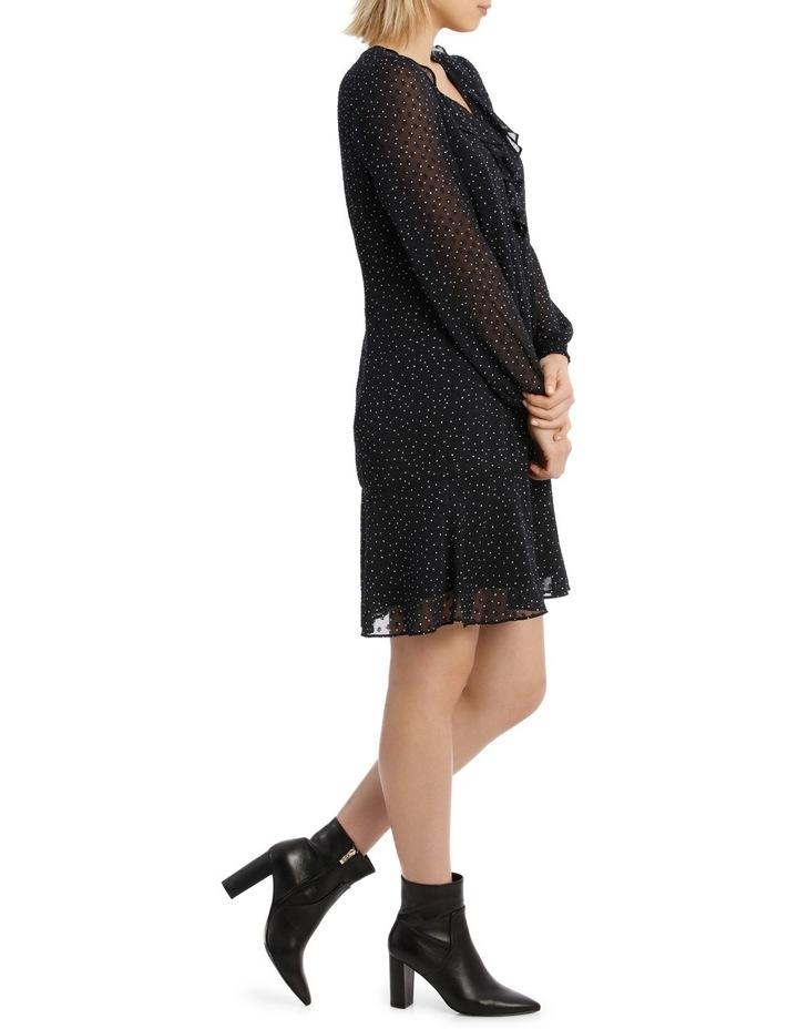 Micro Spot Dobby Ruffle Front Dress image 2