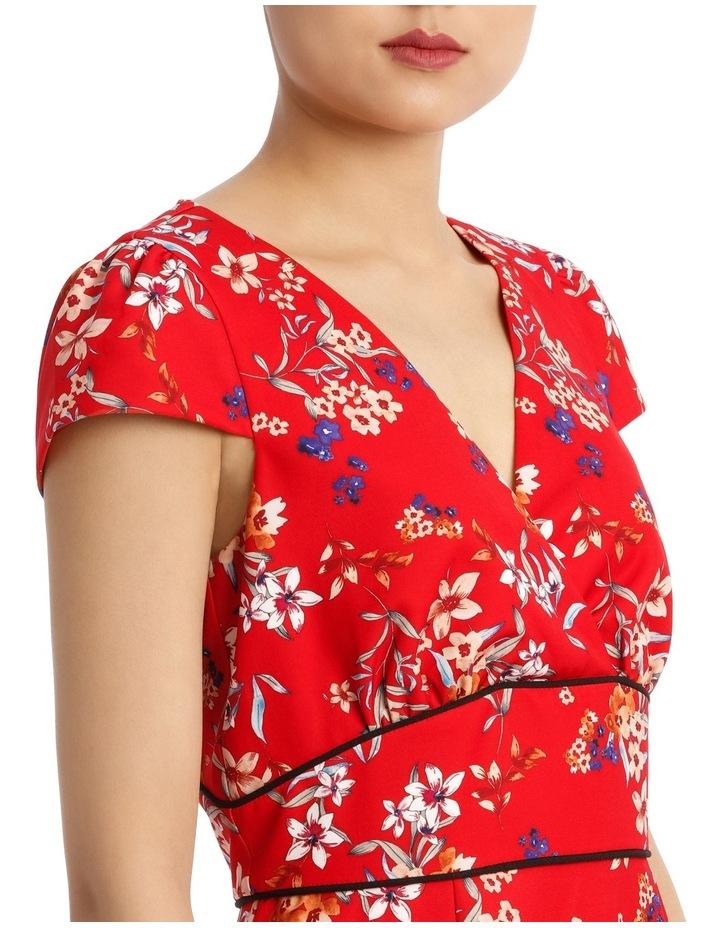 Awakening Floral Panel Dtl Short Sleeve Dress image 4