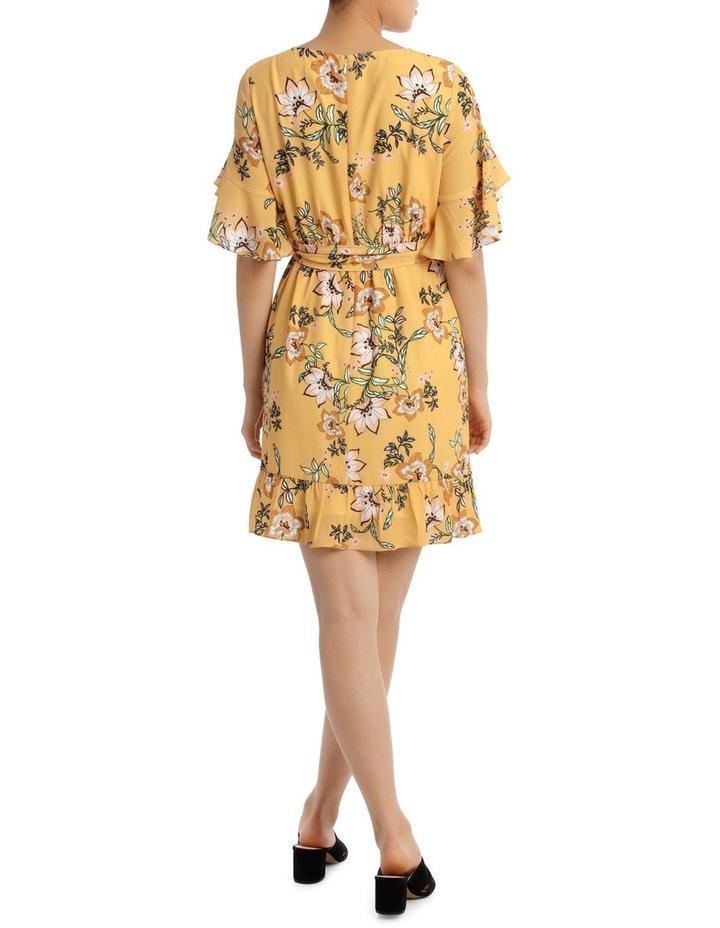 Passionfruit Bloom Mock Wrap Ruffle Dress image 3