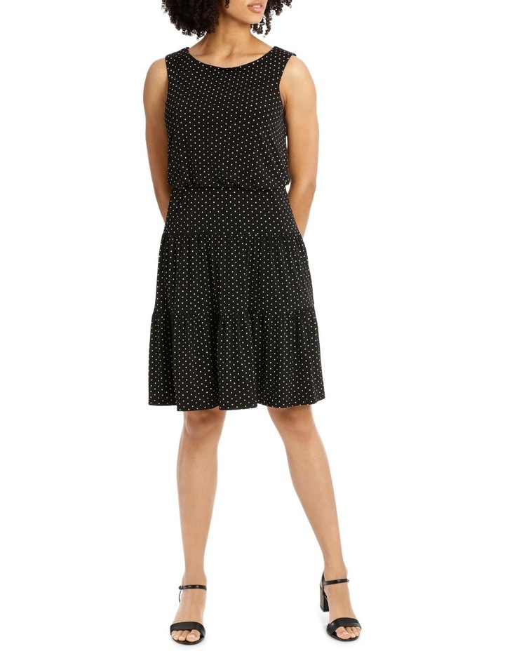 Hot Price Blouson Tiered Hem Jersey Dress image 1