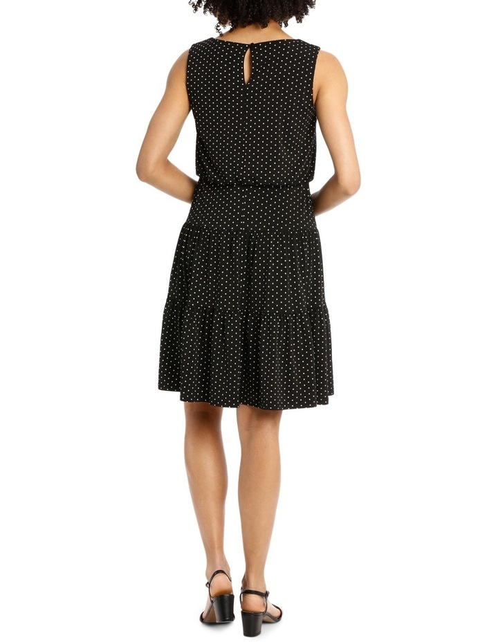 Hot Price Blouson Tiered Hem Jersey Dress image 3
