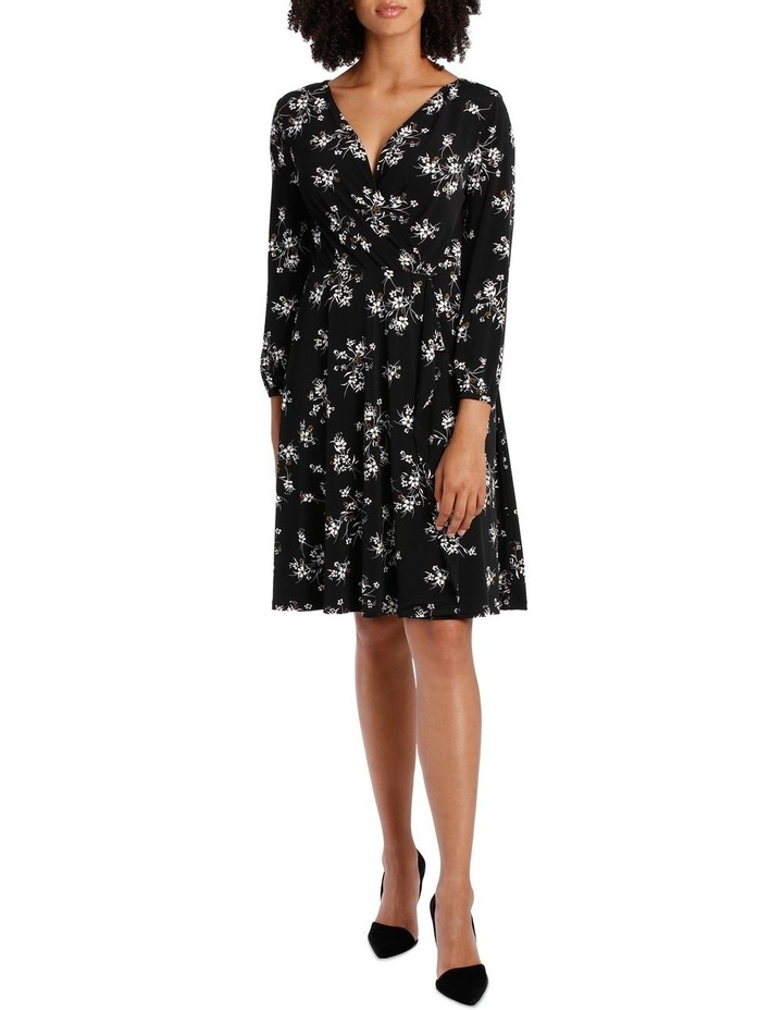 Jersey Long Sleeve Wrap Dress image 1