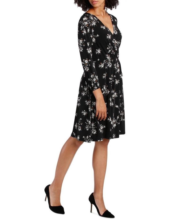 Jersey Long Sleeve Wrap Dress image 2