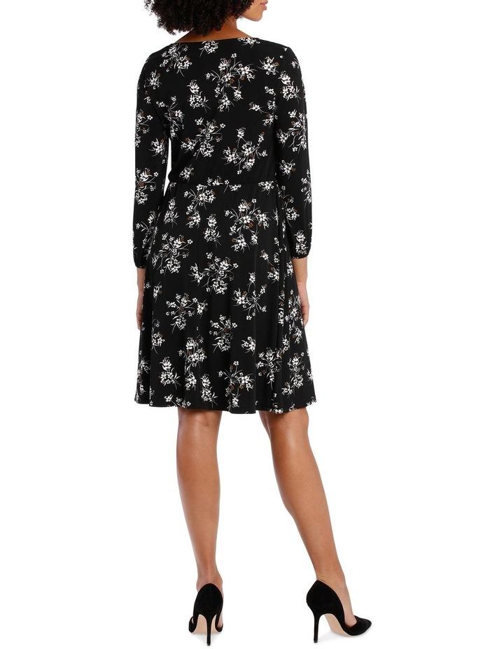 Jersey Long Sleeve Wrap Dress image 3