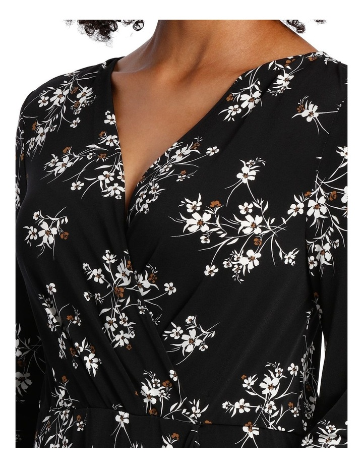 Jersey Long Sleeve Wrap Dress image 4