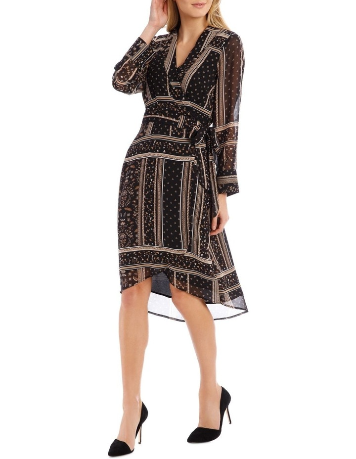 Scarf Printed Wrap Dress image 1