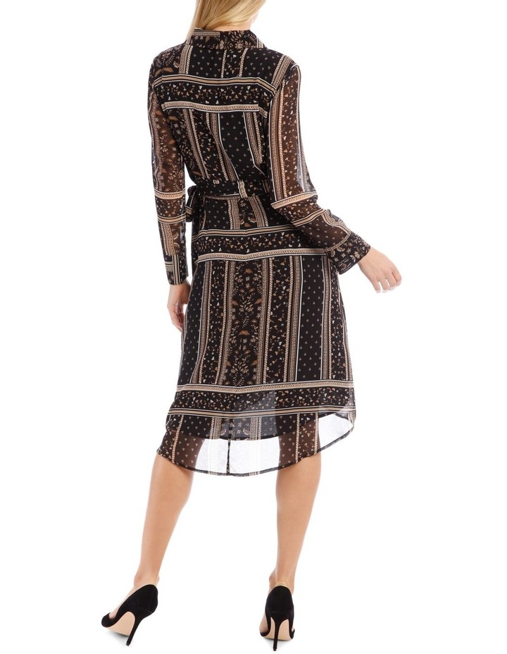 Scarf Printed Wrap Dress image 3