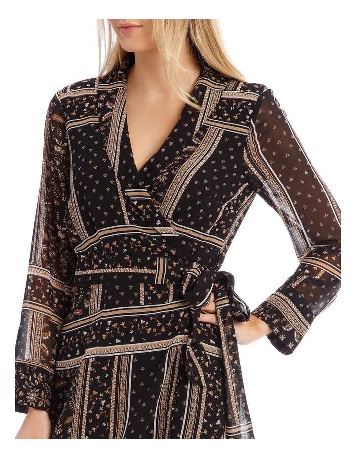 Scarf Printed Wrap Dress image 4