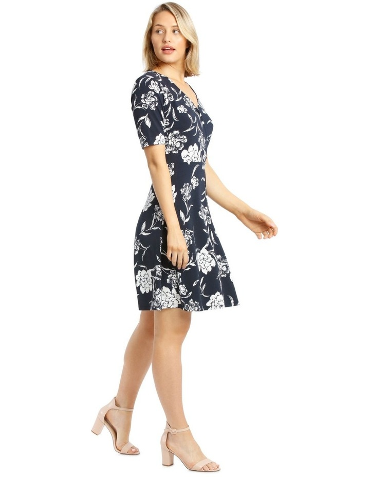 Printed Wrap Jersey Dress image 2