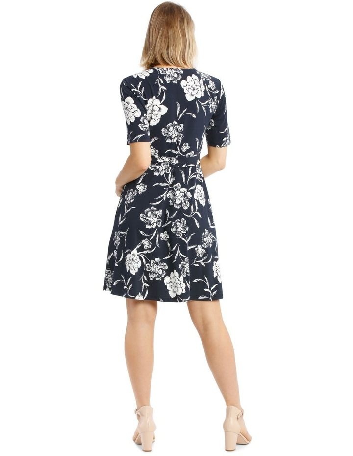 Printed Wrap Jersey Dress image 3