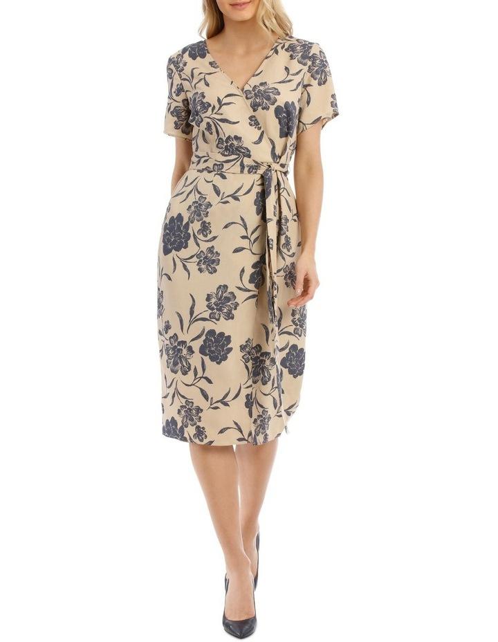 Linen Blend Wrap Dress image 1