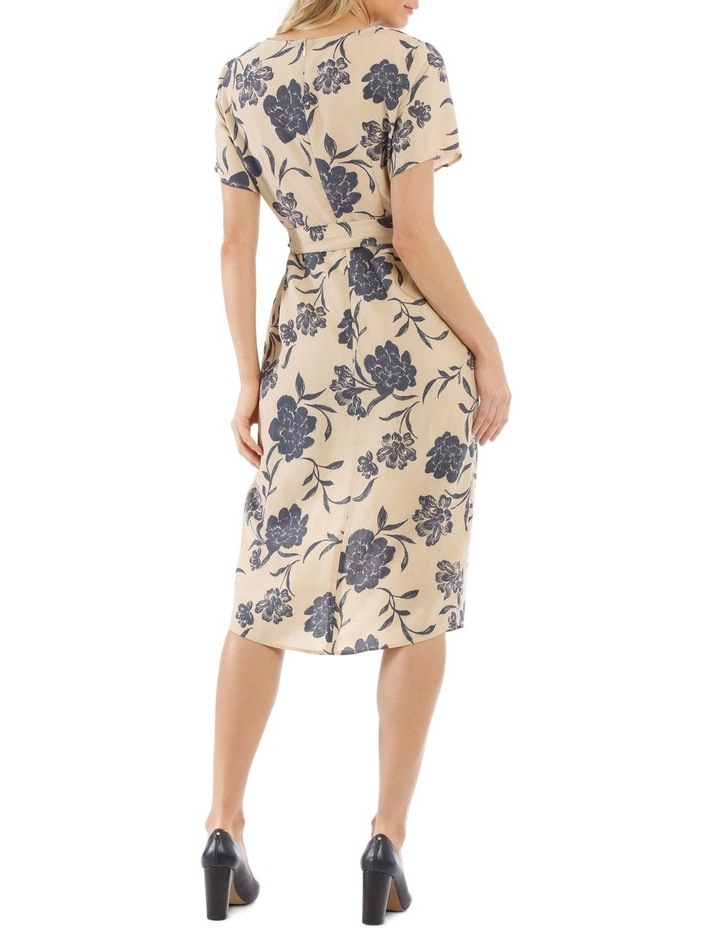 Linen Blend Wrap Dress image 3