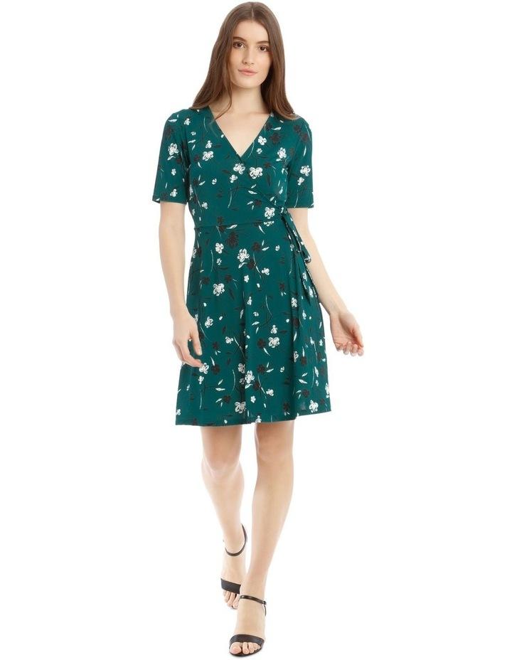 Printed Wrap Jersey Dress image 1